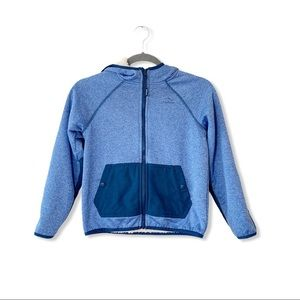 LL Bean Fleece Lined Kid Hoodie Youth 8 Small Blue